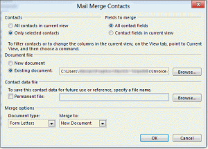 Start a mail merge in Outlook so you can better filter the contacts