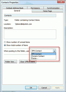Contact forms properties