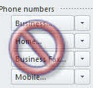 Phone Number Formatting for Outlook and Smartphones