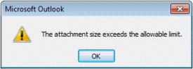 Attachment size warning