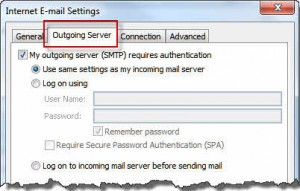 Enable authentication in More Settings