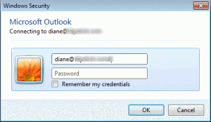 Network password dialog