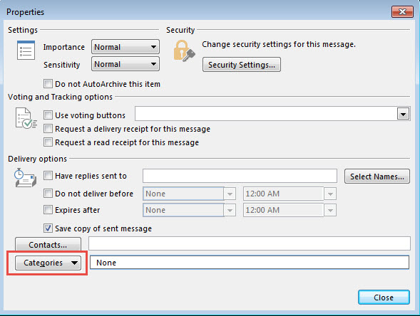 how to add category in gmail account in outlook 365