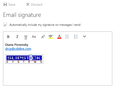 Add an image to a signature in OWA