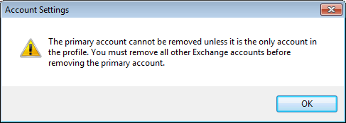 how to change primary account in outlook