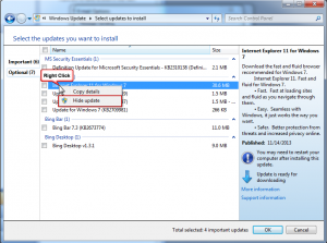 Hide IE11 in Windows Update