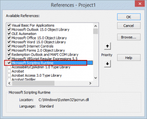 Set a reference to the scripting runtime