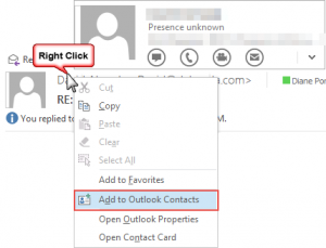 right click options