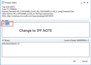 change the container class to ipf.note
