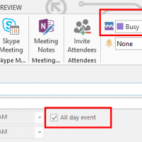 "Change the All Day Event Default Free/Busy to ""Busy"""