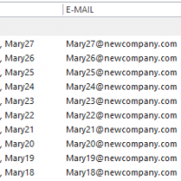 Update Contacts with a New Company Name and Email Address