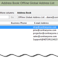 Hiding Global Address Book Fields