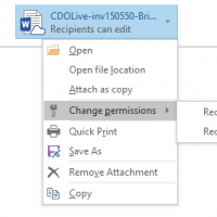 Outlook's Modern Attachments Feature