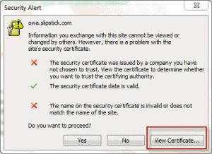 Click Show Certificate