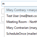 Suggested Contacts and Auto-Complete Lists