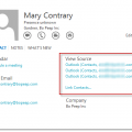 Outlook 2013's Linked Contacts