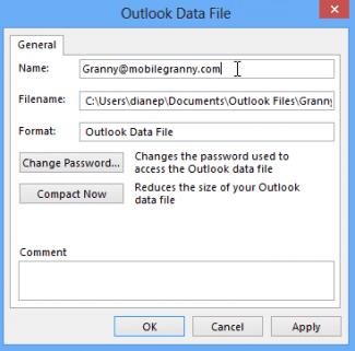 Data file properties