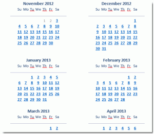 Send calendar by email