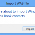 Import a WAB file into Outlook Contacts