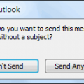 Do You Want to Send This Message Without a Subject?