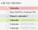 Select multiple calendars in Outlook