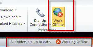 Work offline enabled