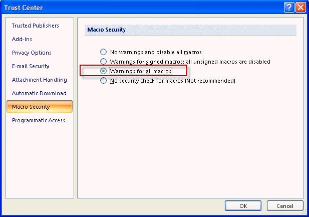 Outlook 2016 for mac macro examples