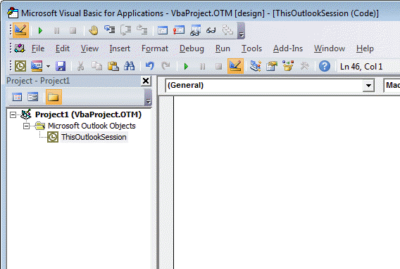 Script in the VBA Editor