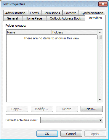 Add folders to Activities in Outlook 2003
