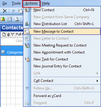 how to create contact group in outlook 2007