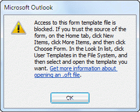 how to open a template in outlook