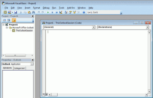 Paste the code into the VB editor