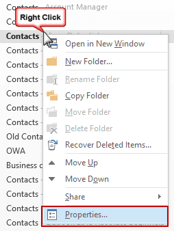 Enabled contacts as an address book