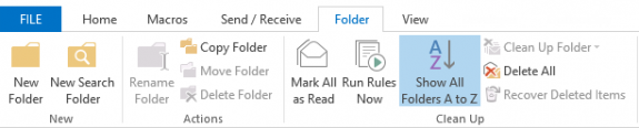 sort folders button