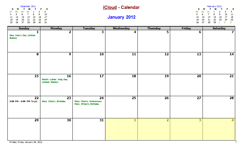 Using and Editing the My Outlook Calendar Template