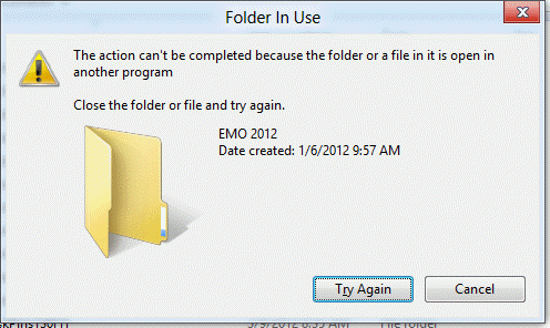 Can\u0027t Rename Windows Folder: Folder in Use Error