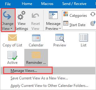 choose manage views