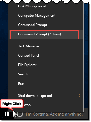 open a command prompt