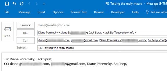 insert recipient names