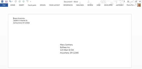 Copy a Contact's Mailing Address