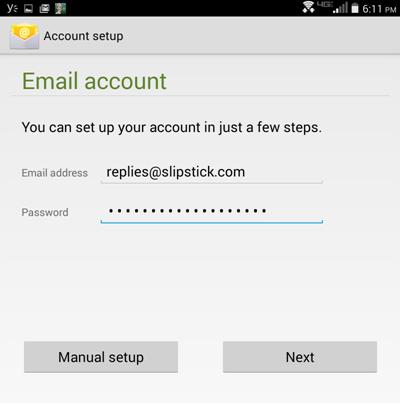 Configuration du compte Android