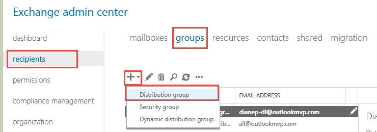 Create The New Distribution Group Using The Alias You Removed Earlier.  Select The Correct Domain From The Domain Dropdown. Add Group Owners As  Members ...