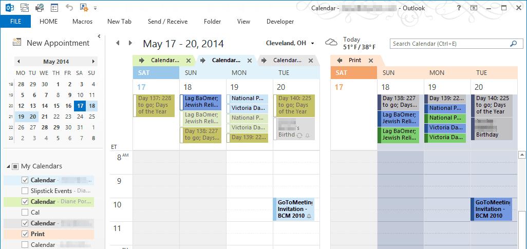 Create A Print Calendar