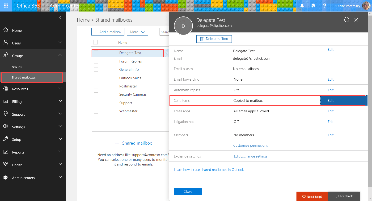 Save Sent Items In Shared Mailbox Sent Items Folder