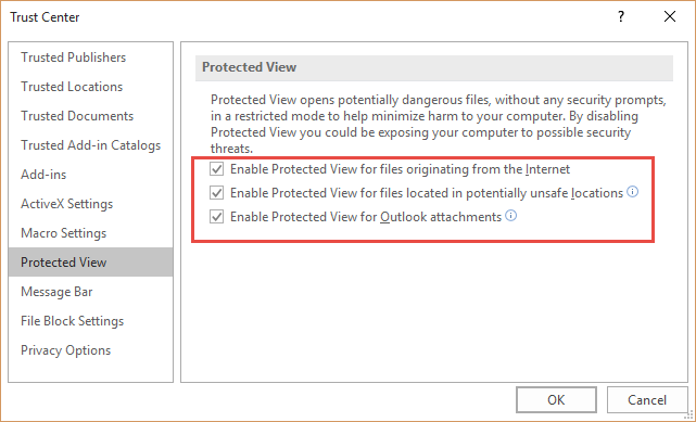 excel 2010 protected view network files