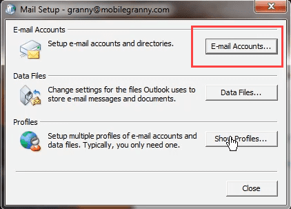 choose email accounts