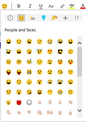 use emoji in email