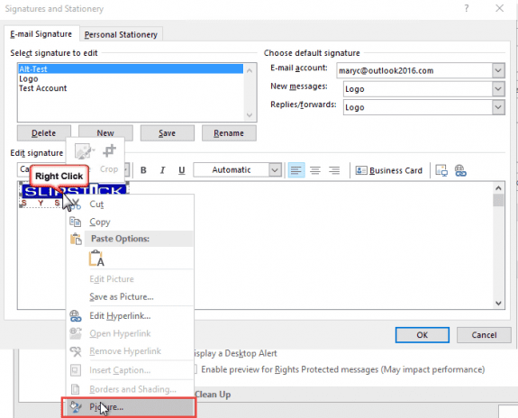 how to add image into signature