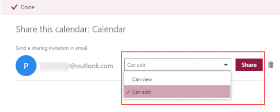 share a calendar in outlook.com