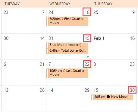 hebrew lunar dates
